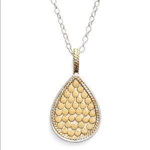Anna Beck Reversible Gold Silver Teardrop Necklace
